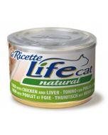 Lifecat Natural Le Ricette da 150g - Tonno, pollo e fegatini