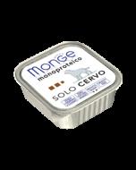 Monge Monoproteico Solo Cervo Vaschette da 150 Gr.