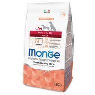 Monge Natural Superpremium Cane Adult Mini Salmone e Riso 2,5 Kg