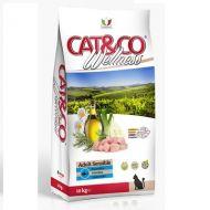 Adragna Pet Food Gatto Cat & Co Wellnes Adult Sensible Pesce e riso 10 Kg