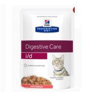 Hill's Prescription Diet Gatto i/d Digestive Care al Salmone 12 Bustine x 85 gr