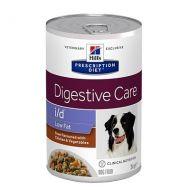 Hill's Prescription Diet i/d Canine Digestive Care Low Fat spezzatino con Pollo e verdure 354 gr.