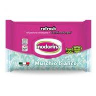 Inodorina Refresh Sensitive Salviette Detergenti Muschio Bianco 100 pezzi
