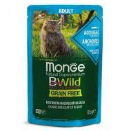 Monge Bwild Gatto Grain Free Acciughe e Ortaggi 85 gr.