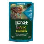 Monge Bwild Gatto Grain Free Sterilised Tonno con Gamberetti e Ortaggi bustina 85 Gr.