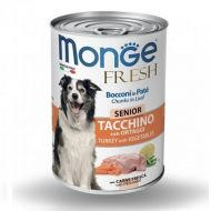 Monge Cane Fresh Adult Senior bocconi in pate' Tacchino 400 gr