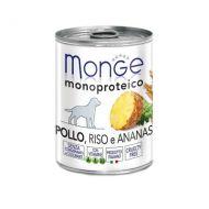 Monge Monoproteico Cane Pollo e Ananas 400 Gr.