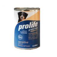 Prolife Dog Sensitive all Breeds Grain Free Pollo e Patate 400 Gr