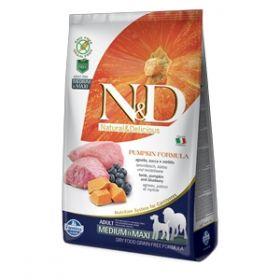 Farmina N&D Grain Free Pumpkin Adult Medium & Maxi Agnello Zucca e Mirtillo kg.2,5