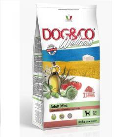 Adragna Pet Food Cane Dog & Co Wellnes Adult Mini Agnello e riso 2,5 Kg