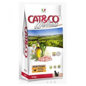 Adragna Pet Food Gatto Cat & Co Wellness Adult Fitness Pollo e Piselli 400 Gr.