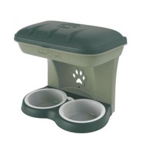 Bama pet ciotola rialzata per cane food stand verde