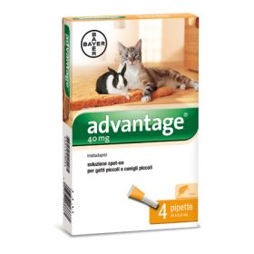 Bayer Advantage Spot On 40 Gatti 0-4 kg. - 4 tubetti
