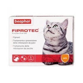 Beaphar Fiprotec Spot On Gatto 3 pipette da 50 Mg