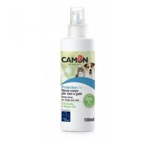 Camon Protection Spray Corpo per Cani e Gatti con Citronella e Olio Neem - 100 ml
