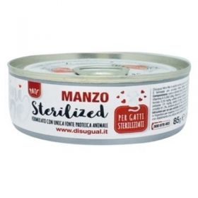 Disugual Mini me Gatto Sterilized al Manzo 85 Gr.