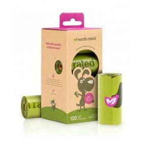 Earth rated sacchetti biodegradabili per Cane alla Lavanda 120 Sacchetti