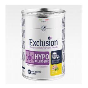 Exclusion Diet Cane Hypoallergenic Quaglia e Piselli Lattine da 400gr
