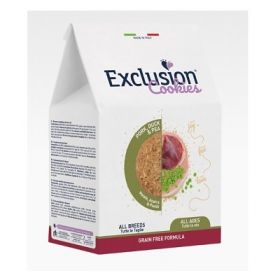Exclusion Cookies Biscotti per Cani Grain free con Maiale, Anatra e piselli all ages and breeds 300 gr