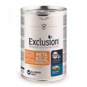 Exclusion Diet Metabolic & Mobility All Breeds Maiale e Fibre Cane 400 Gr.
