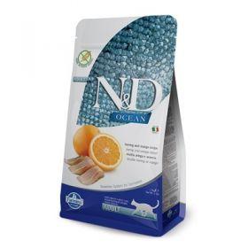 Farmina N&D Ocean Grain Free Gatto Aringa e Arancia 1,5 Kg