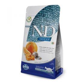 Farmina N&D Ocean Grain Free Gatto Aringa Zucca e Arancia 1,5 Kg