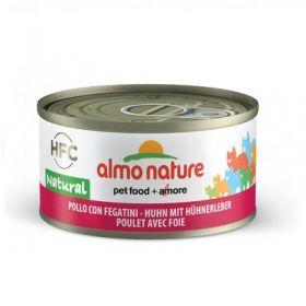 HFC Almo Nature Gatto Natural Pollo e Fegatini 70 gr