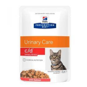 Hill's Prescription Diet c/d Gatto Multicare Urinary Care Salmone 12 Bustine da 85 gr
