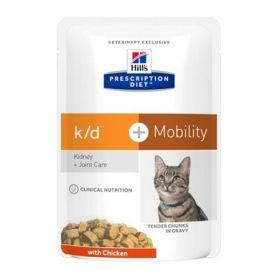 Hill's Prescription Diet k/d + Mobility Gatto al Pollo 12 Bustine da 85 gr.