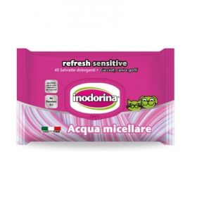 Inodorina Refresh Sensitive Salviette Detergenti all'acqua Micellare 40 pezzi