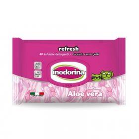 Inodorina Refresh Sensitive Salviette Detergenti Aloe Vera 100 pezzi