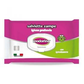 Inodorina Salvietta funzionale Specifica Zampe con Agente Igienizzante 40 Pezzi