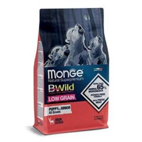 Monge Bwild cane Grain Free Adult All Breeds low grain Cervo da 12 kg