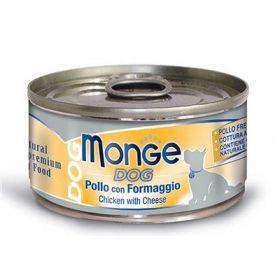 Monge Dog Pollo con Formaggio 95 gr.