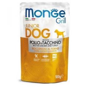 Monge Grill Cane Cucciolo Puppy & Junior con Pollo e Tacchino Buste da 100 gr.