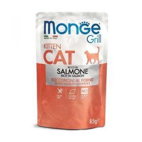 Monge Grill Cat Kitten al Salmone Buste per Gatto da 85 gr.