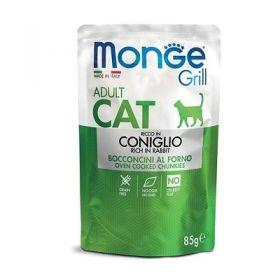 Monge Grill Cat Senior Coniglio Buste per Gatto da 85 gr.