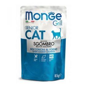 Monge Grill Cat Senior Sgombro Buste per Gatto da 85 gr.