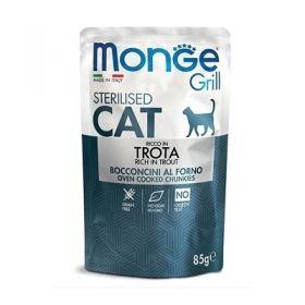 Monge Grill Cat Sterilised Trota Buste per Gatto da 85 gr.