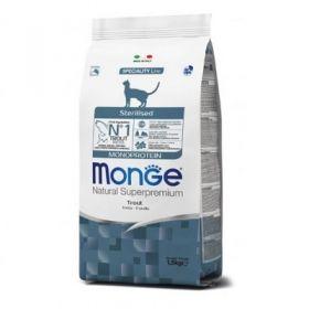 Monge Natural Superpremium Gatto Monoproteico Sterilised alla trota 400 Gr