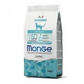 Monge Natural Superpremium Gatto Monoproteico Sterilized Merluzzo 1,5 Kg.