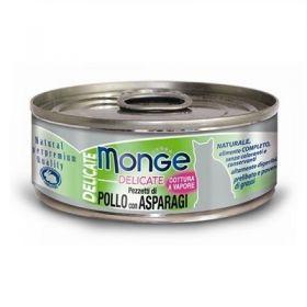 Monge Superpremium Natural Delicate Gatto Pollo e Asparagi 80 Gr