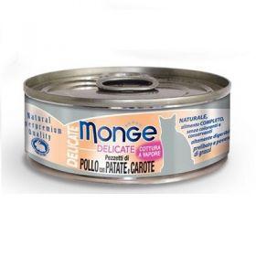 Monge Superpremium Natural Delicate Gatto Pollo Patate e Carote 80 Gr