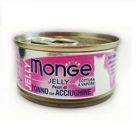 Monge Superpremium Natural Gatto Jelly Tonno e Acciughe 80 Gr
