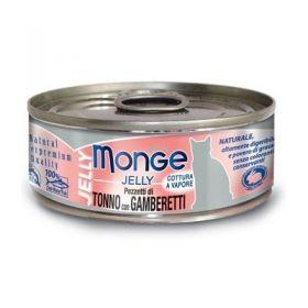 Monge Superpremium Natural Gatto Jelly Tonno e Gamberetti 80 Gr