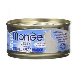 Monge Superpremium Natural Gatto Jelly Tonno e Pesce Bianco 80 Gr