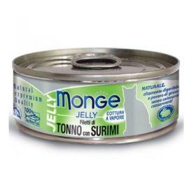 Monge Superpremium Natural Gatto Jelly Tonno e Surimi 80 Gr