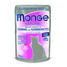 Monge Superpremium Natural Gatto Tonno e Gamberetti 80 Gr