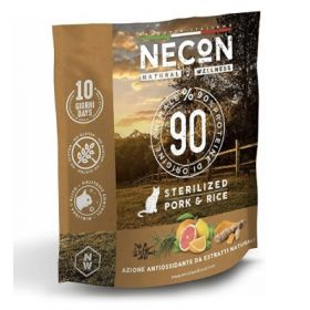 Necon natural wellness gatto adult sterilizzato maiale e riso 400 gr