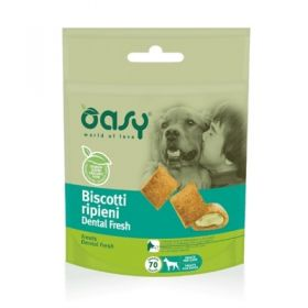 Oasy Cane Biscotti ripieni Dental Fresh 70 gr -  Snack
